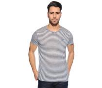 T-Shirt, navy/offwhite, Herren