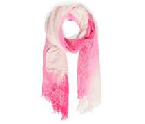 Schal, pink/weiß, Damen