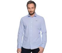 Hemd Custom Fit, blau kariert, Herren