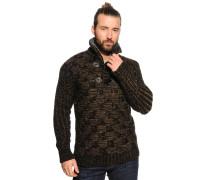 Pullover, schwarz/braun, Herren