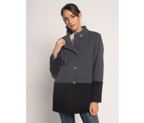 Mantel grau/schwarz
