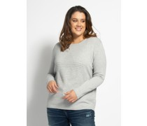 Pullover (große Größe) grau