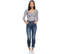 Bo Pocket Suspen D Jeans, denim blue, Damen