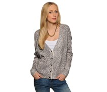 Nanci Bis Strickjacke, grey melange, Damen