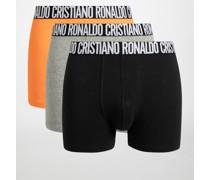 Boxershorts 3er Set orange/schwarz/grau