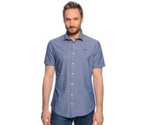 Kurzarmhemd Regular Fit, blau, Herren