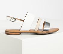 Sandalen weiss/silber