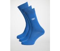 Socken 3er Set blau