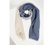 Schal blau/grau/beige