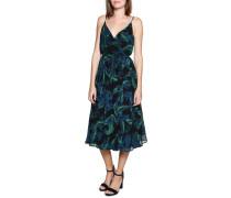 Wickelkleid schwarz/blau/grün
