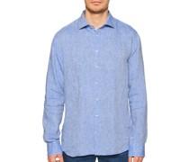 Leinenhemd Regular Fit blau