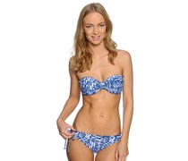 Beach Batik Bikini, vivid blue, Damen