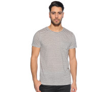 T-Shirt, grau/offwhite, Herren