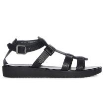 Elsbeth Leather Sandale, Schwarz, Damen
