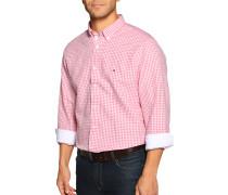 Langarm Hemd Regular Fit weiß/rot