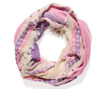 Loopschal, pink/multi, Damen