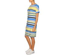 Jerseykleid gelb/blau/weiß