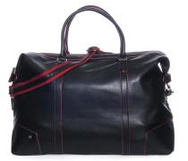 Reisetasche, schwarz/rot, Damen