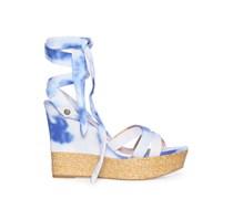 Wedges, blau/weiß, Damen