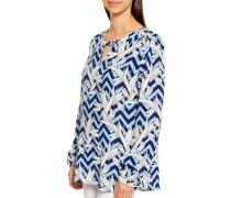 Blusenshirt blau/weiß