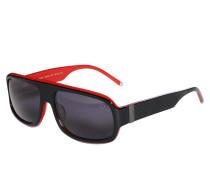 Sonnenbrille, schwarz/rot, Herren