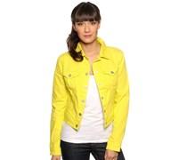 Jeansjacke, gelb, Damen