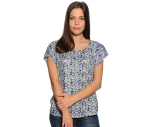 Blusenshirt, blau/hellgrau, Damen