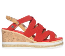 Wedges, rot, Damen