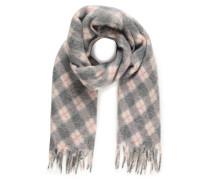 XXL Schal grau/weiß/rosa
