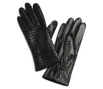 Lederhandschuhe, schwarz, Damen