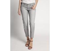 Jeans Straight navy/weiß