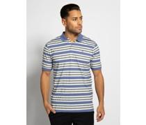 Kurzarm Poloshirt blau/navy/weiß