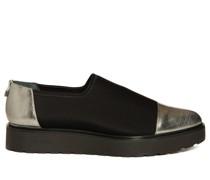 Slipper schwarz/silber