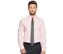 Hemd Slim Fit + Krawatte, rosa, Herren