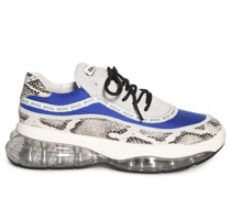 Sneaker grau/royalblau