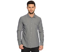 Hemd Regular Fit, navy gestreift, Herren
