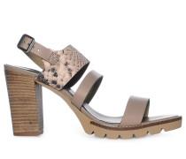Sandaletten, Braun, Damen