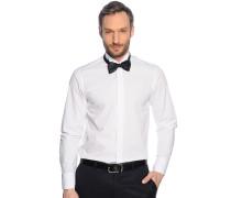 Smokinghemd Slim Fit + Fliege, weiß/schwarz, Herren