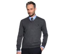 Pullover, anthrazit meliert, Herren