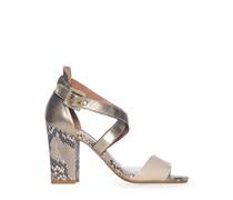 Sandaletten, offwhite/platin, Damen