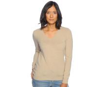 Pullover mit Kaschmir, beige, Damen