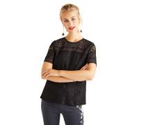 Kurzarm Blusenshirt schwarz