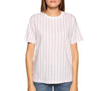 Kurzarm T-Shirt weiß/rot