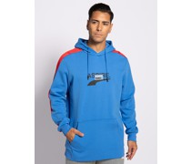 Sweatshirt blau/rot