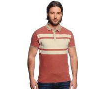 Poloshirt, rost/meliert, Herren
