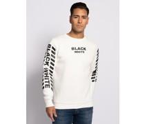 Sweatshirt weiß/schwarz