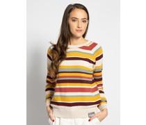 Pullover beige/gelb/rot