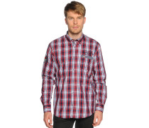 Hemd Regular Fit, rot/navy kariert, Herren
