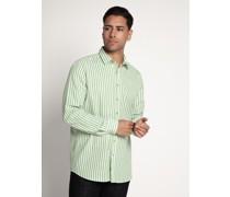 Langarm Hemd Regular Fit hellgrün/weiß