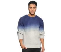 Pullover, blau/weiß, Herren